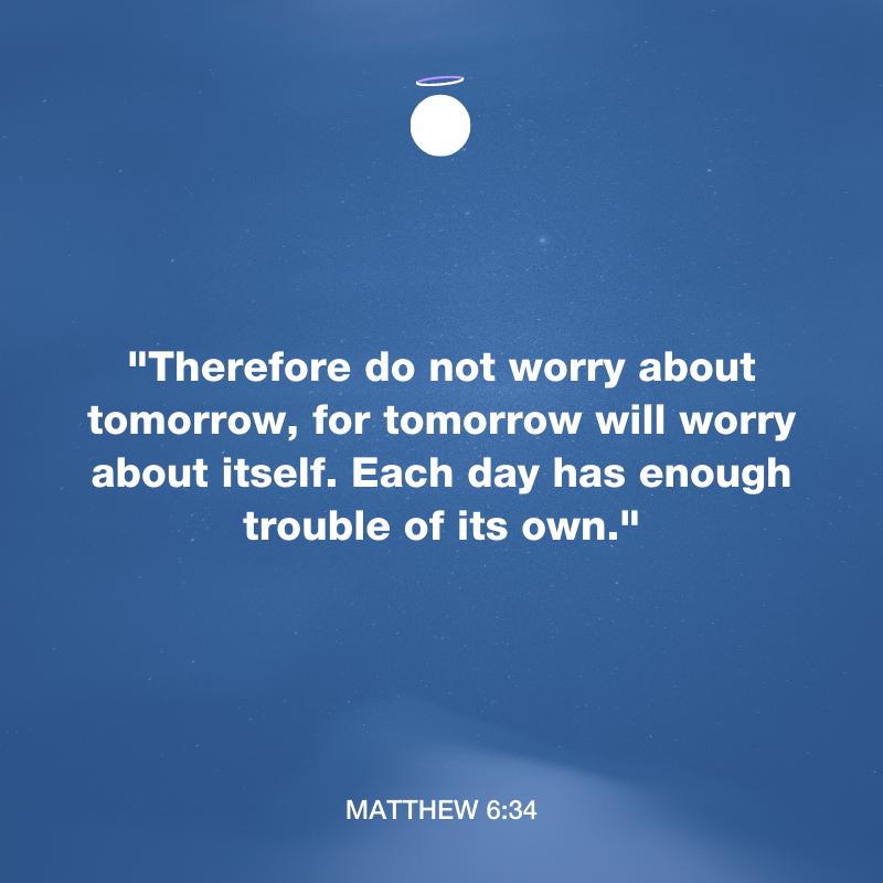 Hallow Bible Verse - Matthew 6:34