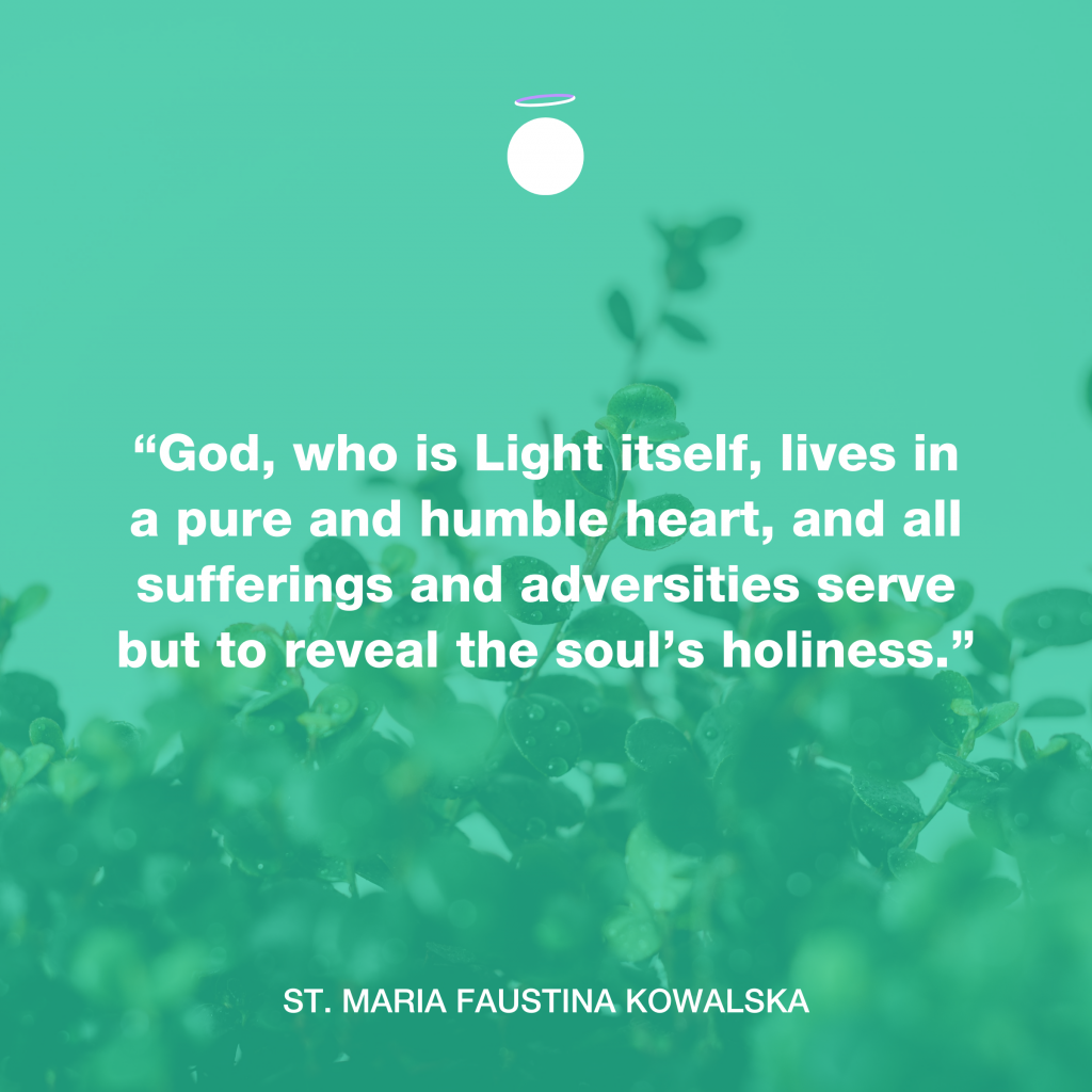 Hallow Daily Quote - Saint Faustina