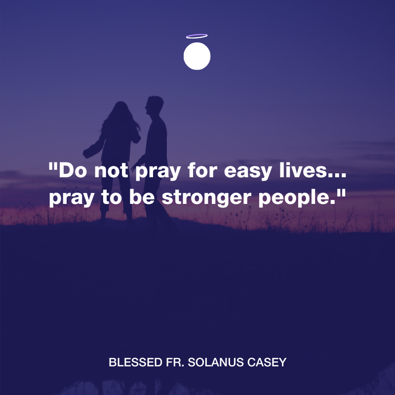 Hallow Daily Quote - prayer for strength