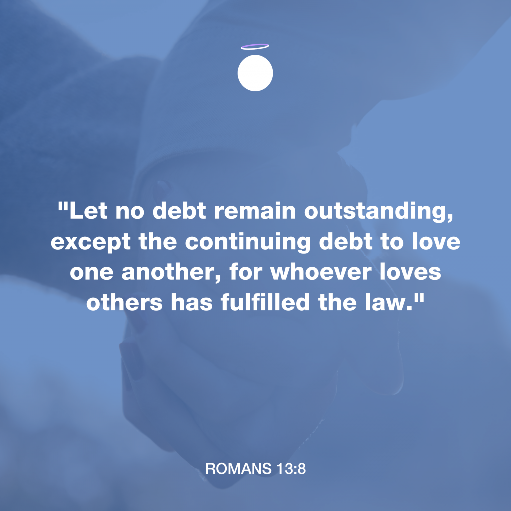 Hallow Bible Verse - Romans 13:8