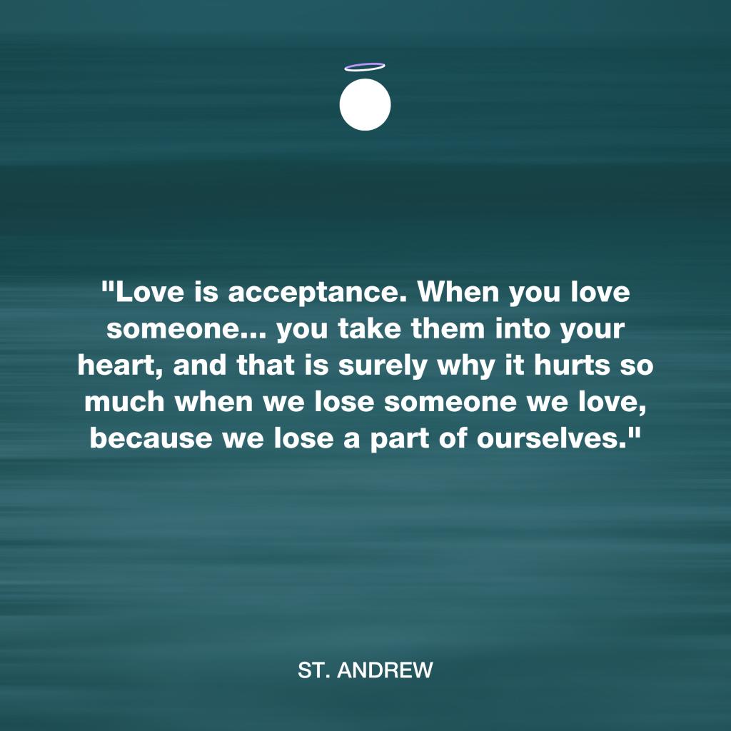 Hallow Daily Quote - Love neighbor - Saint Andrew