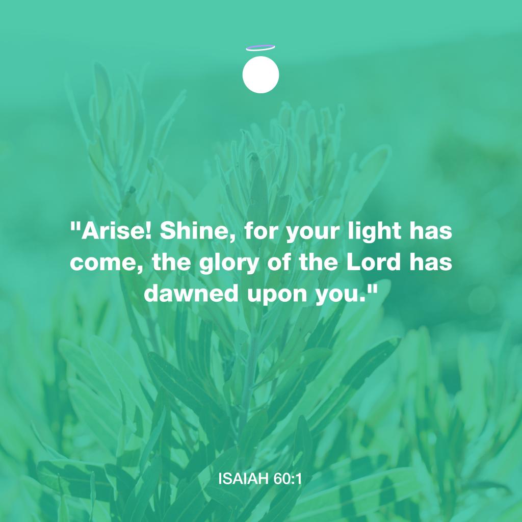 Hallow Bible Verse - glory of God