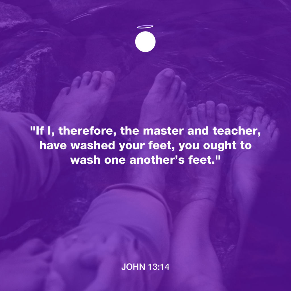 Hallow Daily Quote - Wash feet - John 13:14