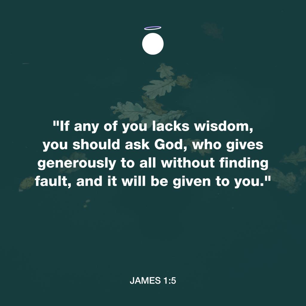 Hallow Bible Verse - Pray to God - James 1:5