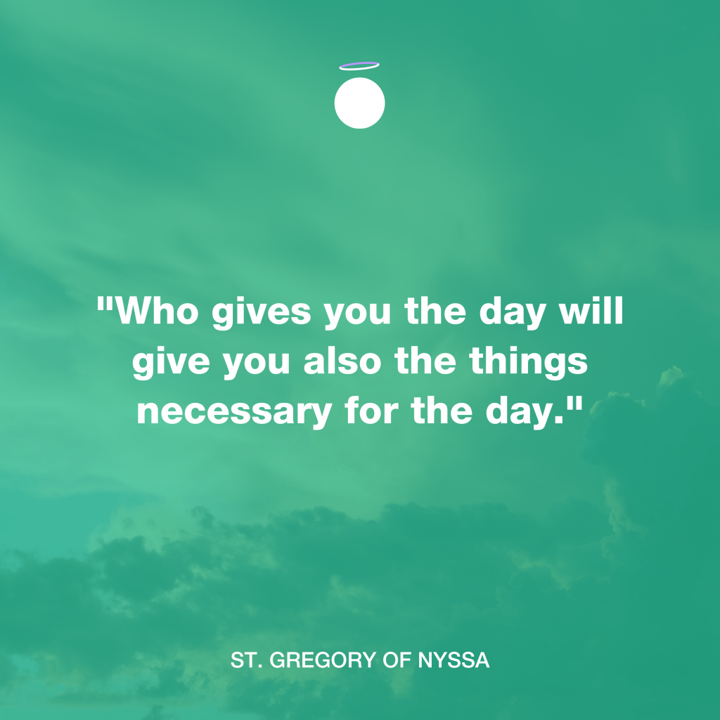 Hallow Daily Quote - Saint Gregory of Nyssa