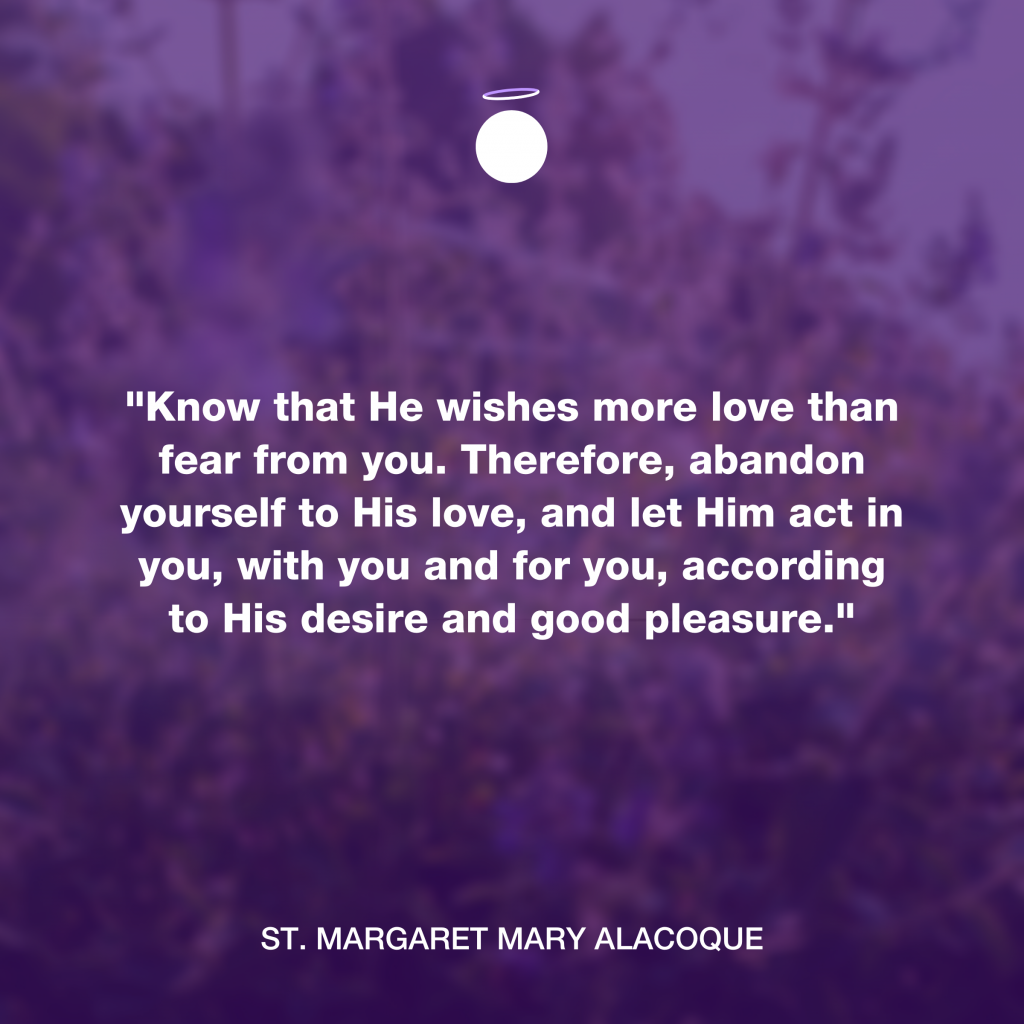 Hallow Daily Quote - His love