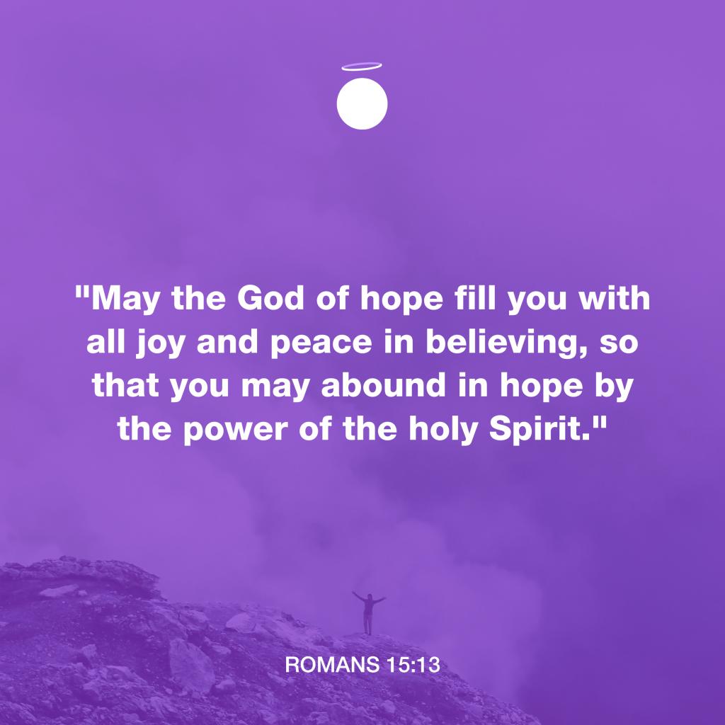 Hallow Bible Verse: Romans 15:13 Joy and Peace