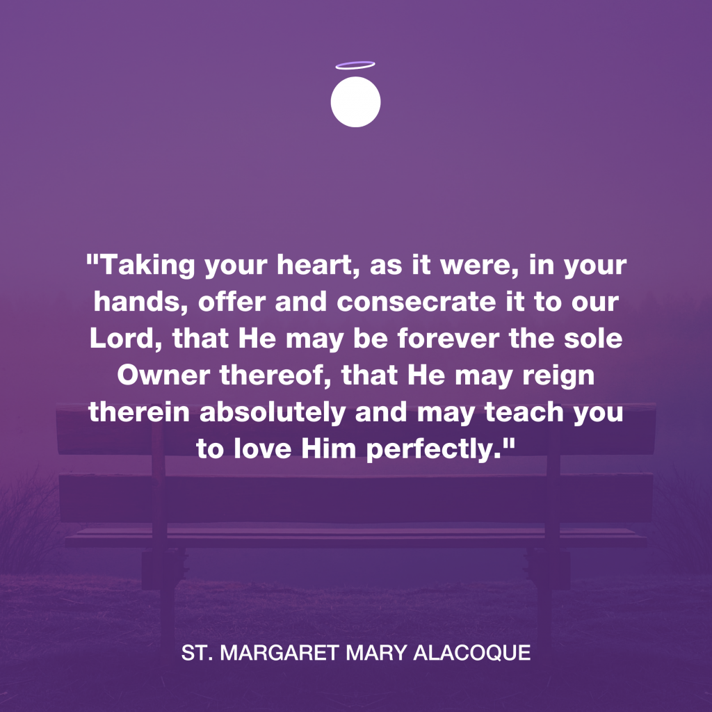 Hallow Daily Quote - Heart consecration