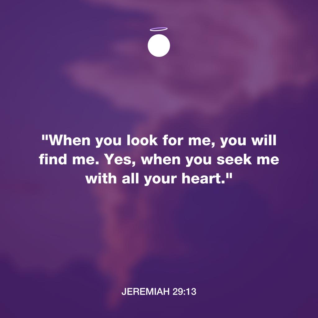 Hallow Bible Verse - Jeremiah 29:14 Seek With Heart