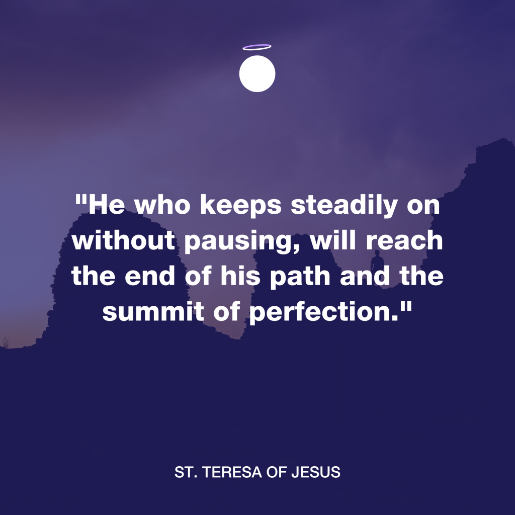 Hallow Daily Quote - Reach perfection