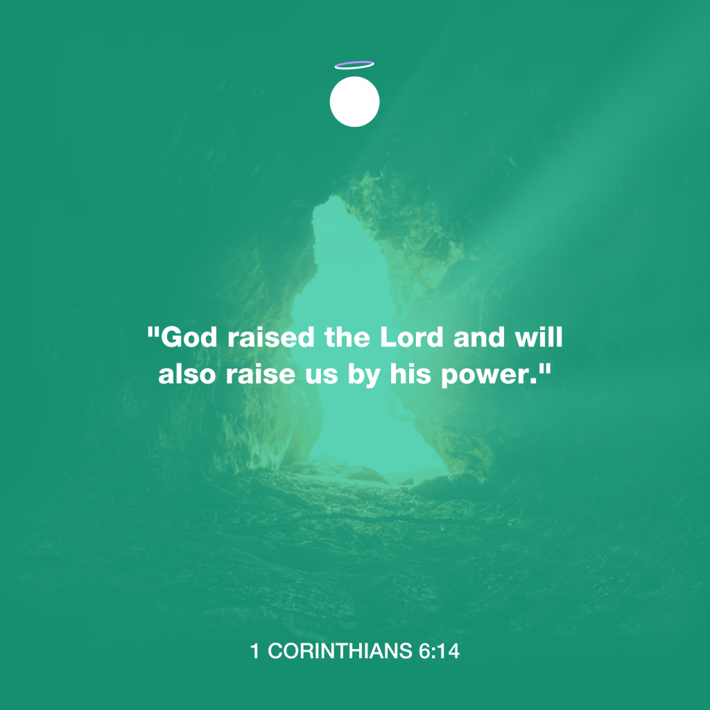 Hallow Bible Quote - 1 Corinthians 6:14