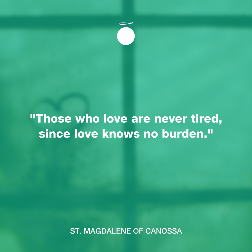 Hallow Daily Quote - love