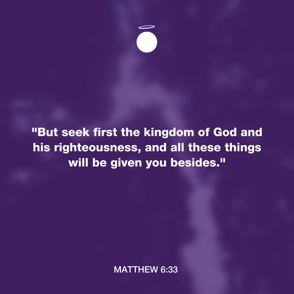 Hallow Bible Quote - Matthew 6:33