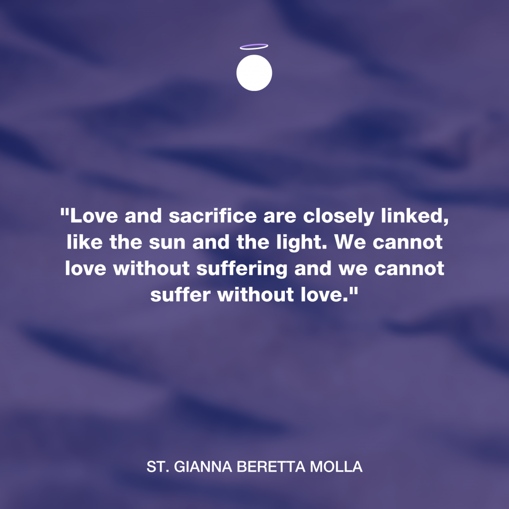 Hallow Daily Quote - love and sacrifice