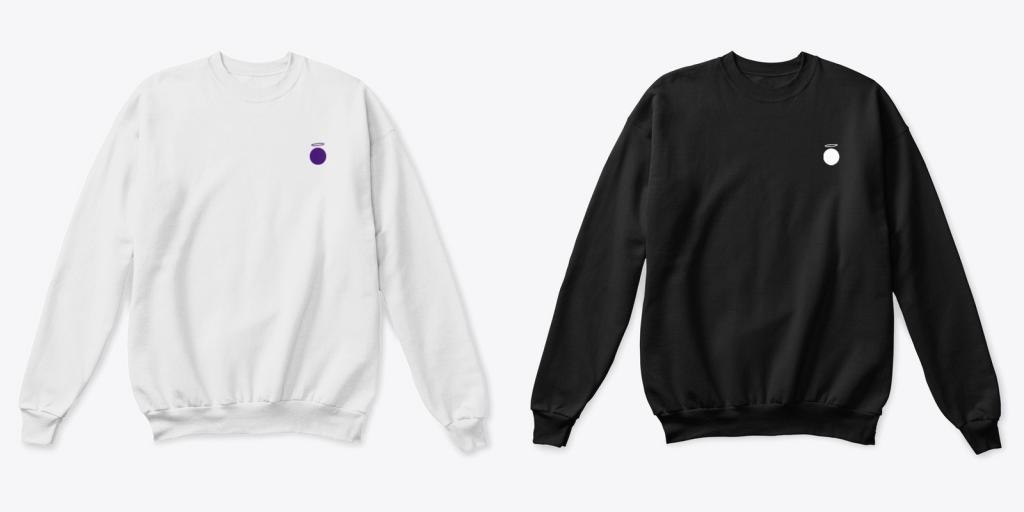Hallow App merchandise sweatshirts