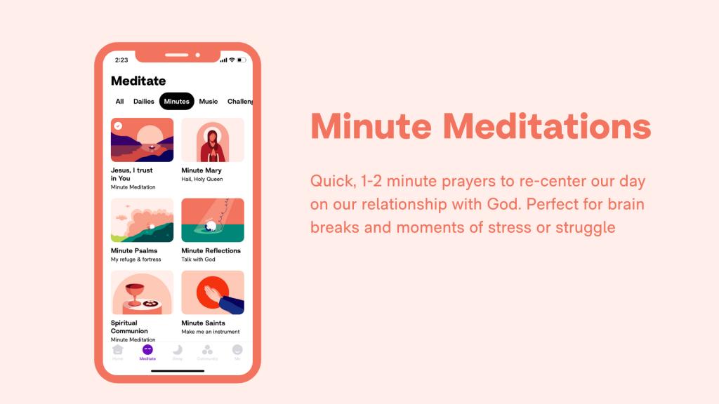 Hallow App - Schools - Minute Meditations