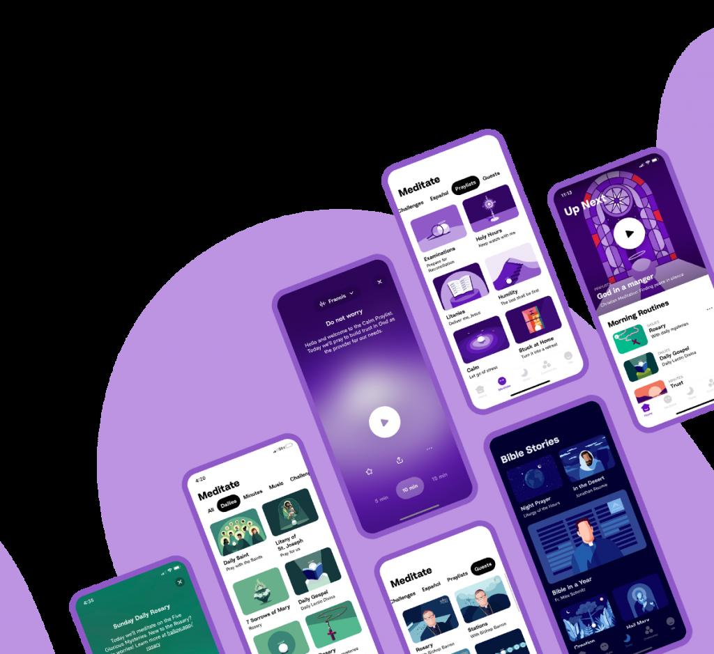 Hallow - Mobile Screenshot Header