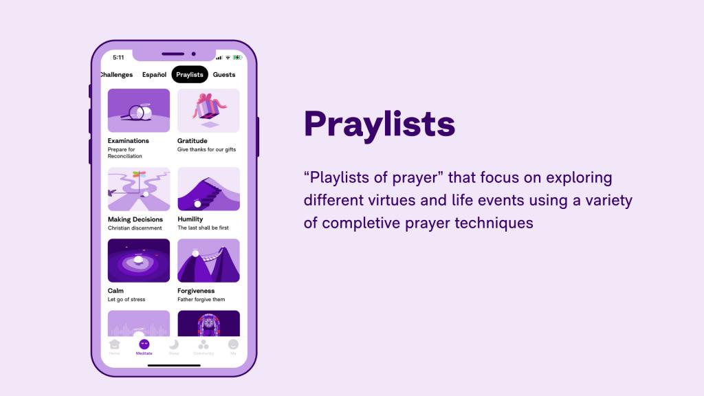 Hallow App - Schools - Praylists