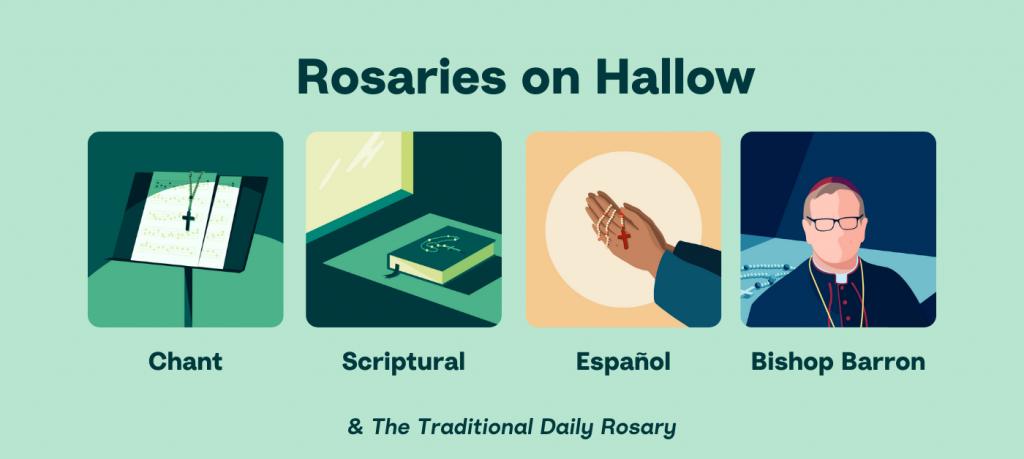 Rosaries on Hallow App